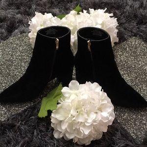 Black Velvet Ankle Boot